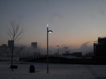 Au coin de l'espace 400ème, brume matinale sur le port ...