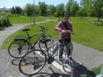 Première ballade en vélo à 2…