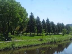 La piste cyclable le long de la rivière St Charles ...