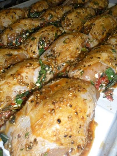 Poulet farci à la grecque, librement inspiré de Jamie Oliver ...