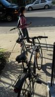 Départ en vélo dès l'aurore ...