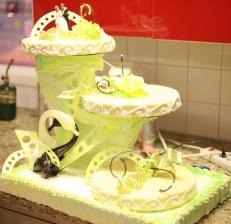 Gâteau de mariage, finition