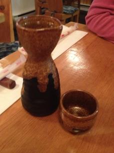 Un peu de saké. Il faudra en essayer d'autres. C'était une première.