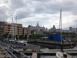 Québec vue du bassin Louise