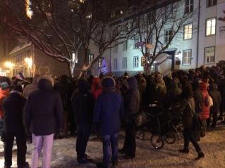 Rassemblement du 7 janvier devant le consulat de France à Québec