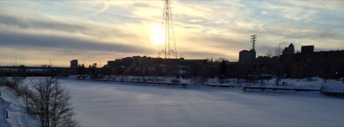 La rivière St Charles le 18 au matin