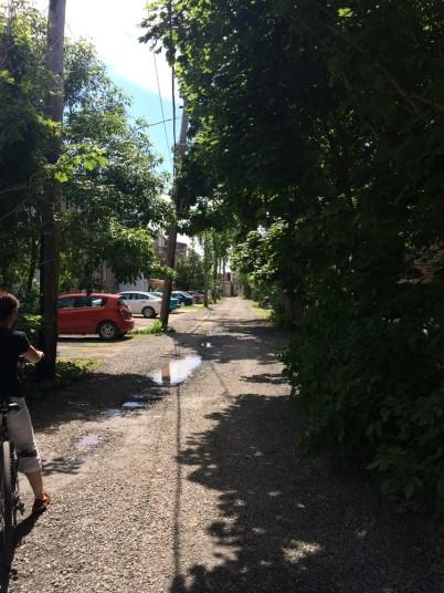 Notre ruelle de Limoilou au départ