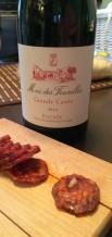 Saucisson et vin rouge