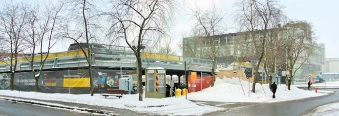 Le stationnement provisoire, en attendant la réalisation de la future place des Canotiers