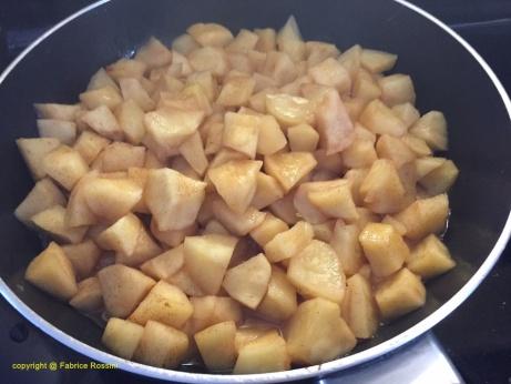 Poêler les pommes