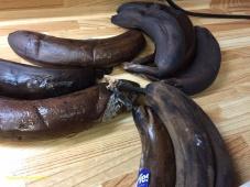 J'utilise des bananes congelées